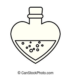 szív alakzat, palack