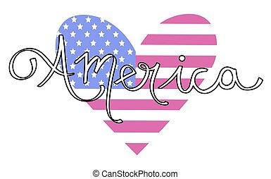 szív, amerika