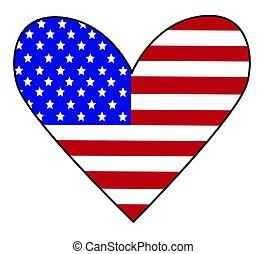 szív, amerikai