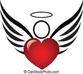 szív, angyal, jel