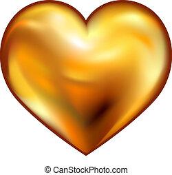 szív, arany
