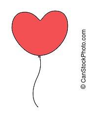 szív, balloon