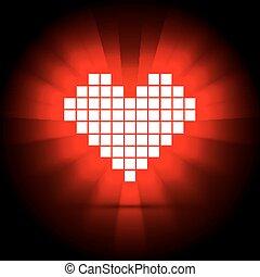 szív, concept., ábra, energia, vektor, egészség