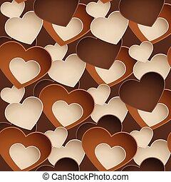 szív, csokoládé, édesség, forma, motívum