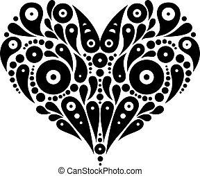 szív, dekoratív, tetovál