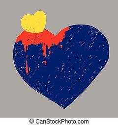 szív, elvont, párosít