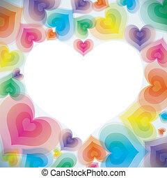 szív, elvont, szeret, háttér
