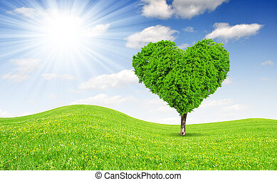 szív, fa, alakít