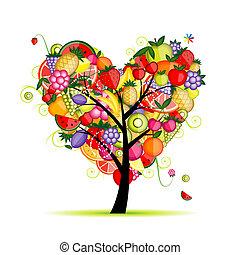 szív, fa, -e, gyümölcs, tervezés, energia, alakít