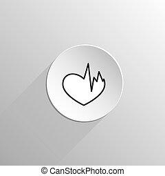 szív, fekete, beteg, ikon