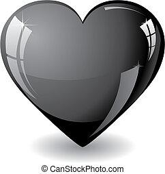 szív, fekete