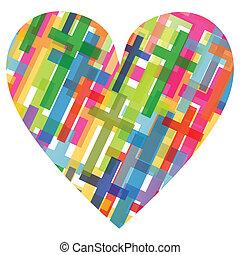 szív, fogalom, poszter, elvont, kereszt, ábra, kereszténység, vallás, vektor, háttér, mózesi