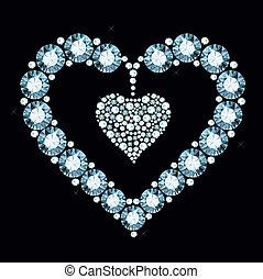 szív, gyémánt
