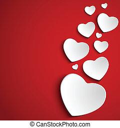 szív, háttér, piros, nap, kedves