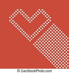 szív, háttér, piros