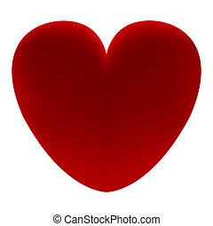 szív, háttér, piros white