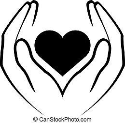 szív, hatalom kezezés