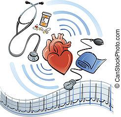 szív, healthcare