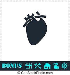 szív, ikon, lakás
