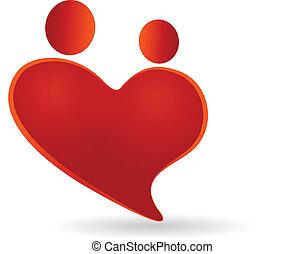 szív, jelkép, párosít, vektor, jel, ikon