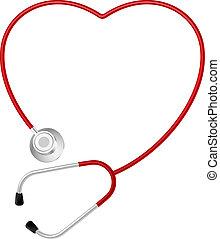 szív, jelkép, sztetoszkóp