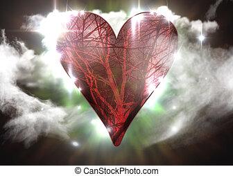 szív, jelkép, vér hajó