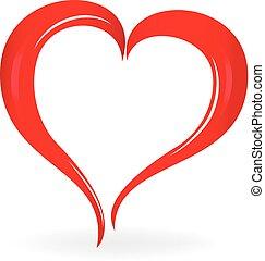 szív, jelkép, valentines, jel