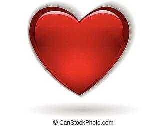 szív, jelkép, valentines nap, jel