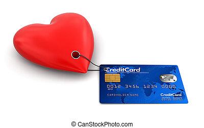 szív, kártya, hitel