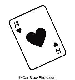 szív, kártya játék