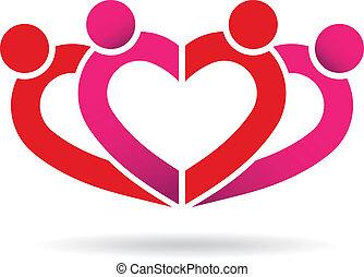szív, közösség, emberek