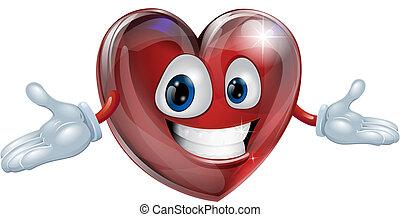szív, karikatúra, ábra, ember