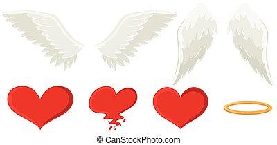 szív, kasfogó, angyal