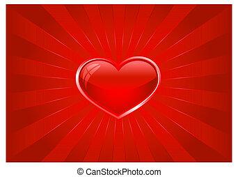 szív, kitörés, piros lámpa