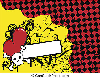 szív, koponya, background8