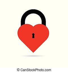 szív, kulcslyuk, ábra