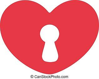 szív, kulcslyuk