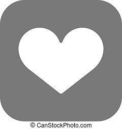 szív, lakás, eps, vektor, ikon, legjobb
