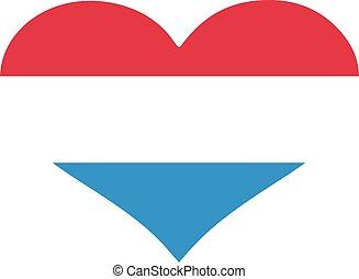 szív, lobogó, luxemburg