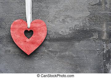 szív, mód, szeret, valentine's, falusias, háttér, nap