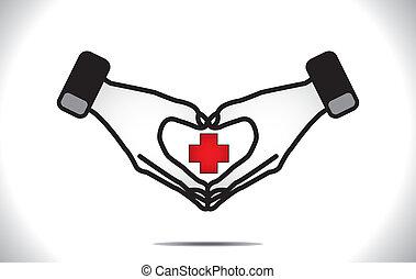 szív, orvosi, oltalom, plusz, törődik