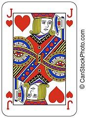szív, piszkavas, játék kártya, bubi