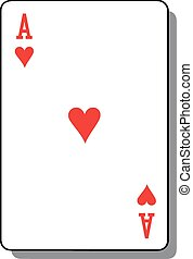 szív, piszkavas, kártya