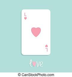 szív, piszkavas, szeret, lakás, aláír, tervezés, háttér, játék kártya