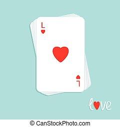 szív, piszkavas, szeret, lakás, aláír, tervezés, kártya, háttér, kazal, játék, piros