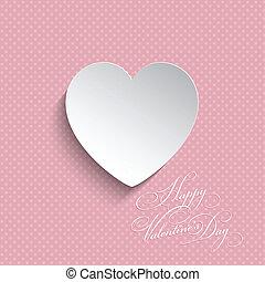 szív, pont, háttér, valentines, polka