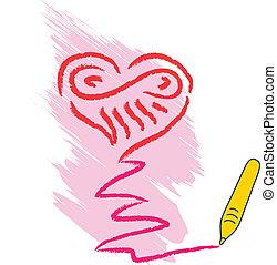 szív, rajz