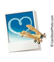szív, repülőgép