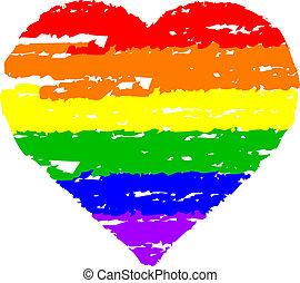 szív, színes