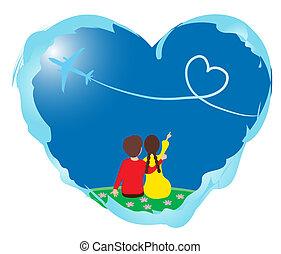 szív, szerelmes pár